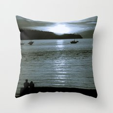watching the sun set Throw Pillow