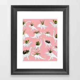 Dinosaurs & Succulents Framed Art Print
