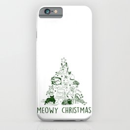 Meowy Christmas Cat Tree iPhone Case