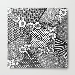 Flower Square Metal Print