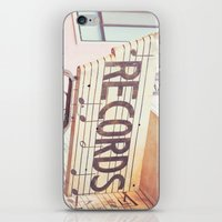 records iPhone & iPod Skins featuring Records by JoyHey