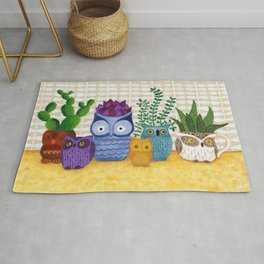 Collections of Owls Rug
