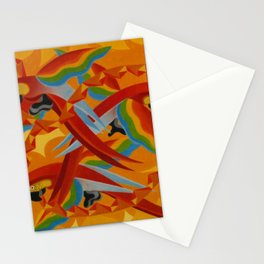 Scarlet Macaws (Parrots) by Giacomo Balla Stationery Cards