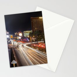 Light Trails on the strip  Stationery Cards