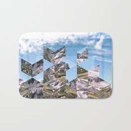 Mountain Fragments Bath Mat