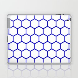 White and blue honeycomb pattern Laptop & iPad Skin