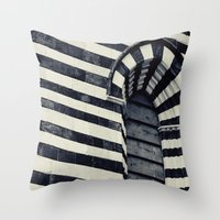 striped Throw Pillows featuring Striped by farsidian