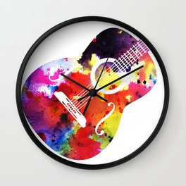 Arty Guitar Wall Clock