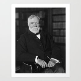 Andrew Carnegie Seated In A Library Art Print