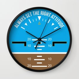 Right Attitude Wall Clock