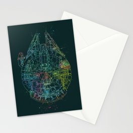 Millennium Falcon Painters Schematic Stationery Cards