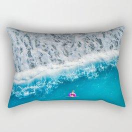 Just Me and the Sea Rectangular Pillow