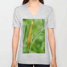 Magic Grass - Caterpillar - Macro Unisex V-Neck
