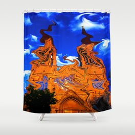 Wavy Cathedral Shower Curtain