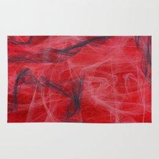 Red and Smoke Rug