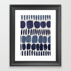 Painted Stones-Indigo Framed Art Print