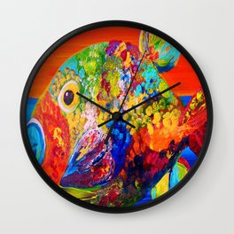 Deviously Dappled Wall Clock