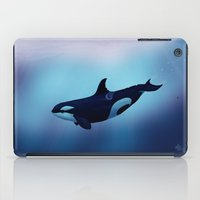 biology iPad Cases featuring Lost in Fantasy ~ Orca ~ Killer Whale by Amber Marine