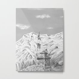 Nepal Prayer Stupa Metal Print