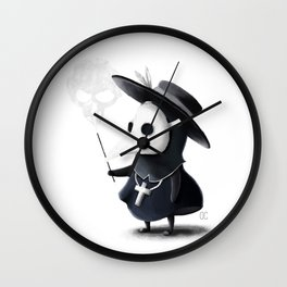 The little black Death Wall Clock