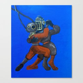 Two Divers, Dancing Canvas Print