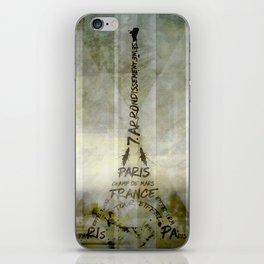 Digital-Art PARIS Eiffel Tower   Geometric Mix No.1 iPhone Skin