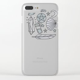 Sea Witch - grey Clear iPhone Case