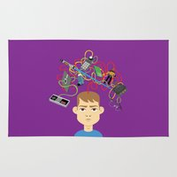 nerd Area & Throw Rugs featuring Nerd by Mouki K. Butt