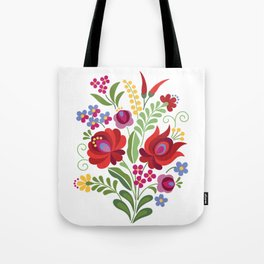 Hungarian Folk Design Red Peppers Tote Bag