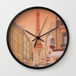 Eiffel Tower Paris Wall Clock