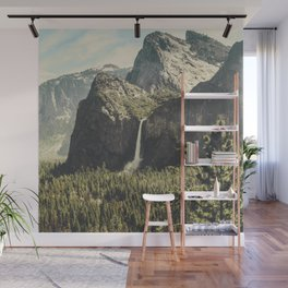 Yosemite Valley Waterfall Wall Mural