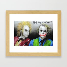 'Hey, Why So Serious?' Framed Art Print