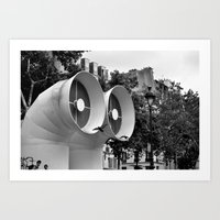 ah... paris Art Print
