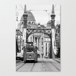A tram in my way - Budapest Canvas Print