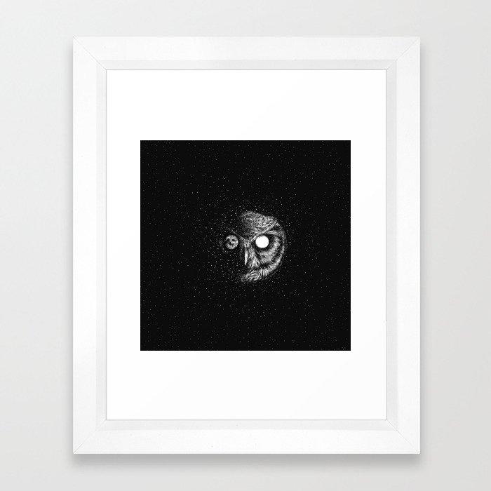 Moon Blinked Framed Art Print