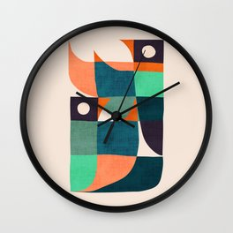 Two birds dancing Wall Clock