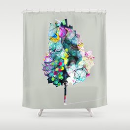 Fantasy Tree 18 by Leslie Harlow Shower Curtain