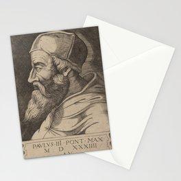 Agostino dei Musi - Pope Paul III.jpg Stationery Cards