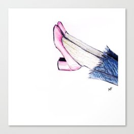 Pink Shoes Canvas Print