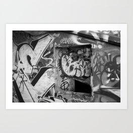 Urban graffiti Miami Abandoned Marina Stadium in Key Biscayne Art Print