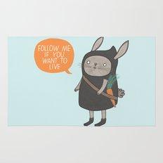 Ninja Bunny Rug