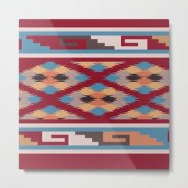 American Native Pattern No. 270 Metal Print