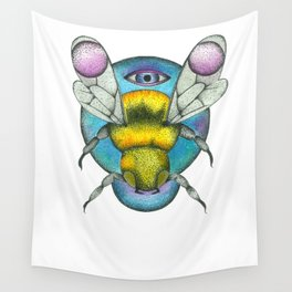 Stippled Bee Wall Tapestry