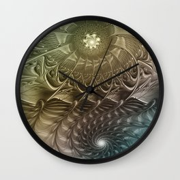 Togetherness, Fractal Art Abstract Wall Clock
