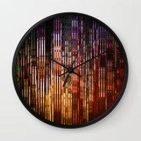 metropolis Wall Clocks featuring Metropolis by Angelo Cerantola
