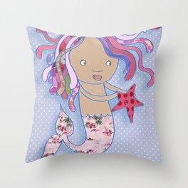 Water Fairy Mermaid Throw Pillow