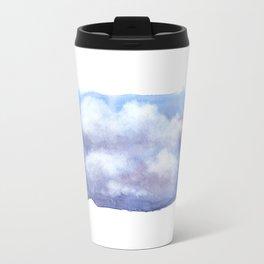 Clouds Watercolor  Travel Mug