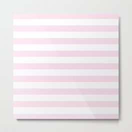 Simply Striped in Desert Rose Pink Metal Print