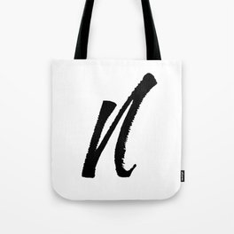 Letter N Ink Monogram Tote Bag