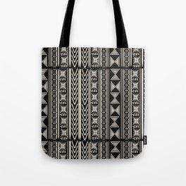 Boho Mud cloth (Black and White) Tote Bag